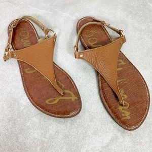 Sam Edelman Brown Greta Thong Sandals